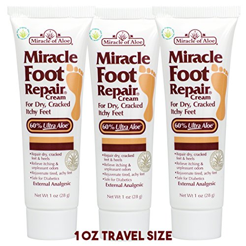 Miracle Foot Repair Cream for Dry Cracked Feet, 1 oz (Pack of 3) (Kiss Cracked Feet)