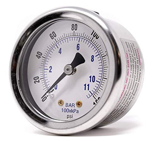 PIC Gauges 202D-254Q 215T-254A 2.5 Dial 30//0 hg 2-1-2/% Accuracy