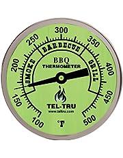 Tel-Tru 351U02FBAKLAAAA BQ300 100-500F Barbecue Thermometer - Glow Dial with 2.5 Inch Stem