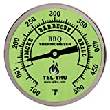 Tel-Tru BQ300 Barbecue Thermometer, 3 inch glow dial with zones, 4 inch stem, 100/500 degrees F Review