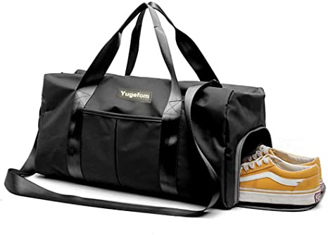 Gym Bag Gym Bag Cabin Carry-on Luggage w//Separate Sports Bag Overnight Travel Holdall Bag Weekend Travel Bag Shoe Compartment for Men and Women Travel Duffel Bag