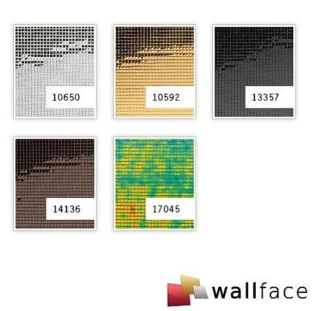 Panel decorativo autoadhesivo flexible mosaico cuadrado XS WallFace 10650 M-Style con efecto espejo plateado 0,96 m2: Amazon.es: Bricolaje y herramientas