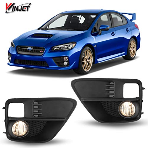 Winjet WJ30-0411-09 OEM Series for [2015-2017 Subaru WRX] Clear Driving Fog Lights + Switch + Wiring - Lights Housing Driving Plastic