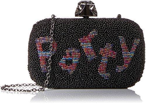 Beaded Regale La Handbag (La Regale Beaded 'Party' Minaudiere, Black)