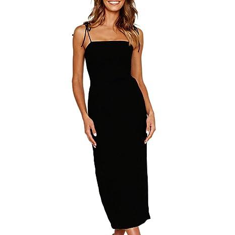Mujer Vestido ddupnmone vestido sin mangas talla alta falda recta ...