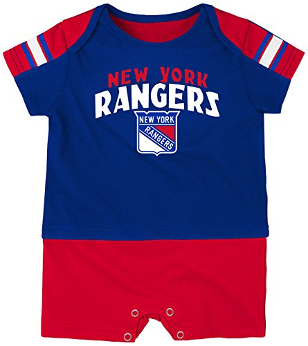NHL New York Rangers Boys Newborn & Infant 'Little Brawler' Jersey Romper, Royal, 24 Months