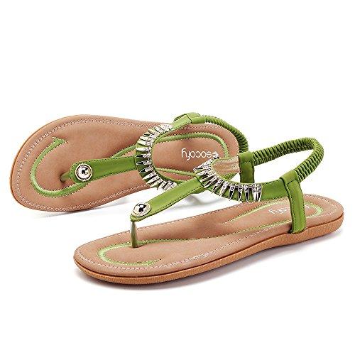 3bc5ee85d5d Ville Ouvert Plats Confortable Bout De Vert Argent 2019 Chaussures Tongs  Sandales Talons Gris Plates Semelle ...
