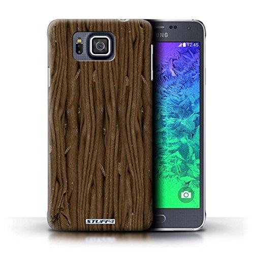 Kobalt® Imprimé Etui / Coque pour Samsung Galaxy Alpha / Flake/Flocon conception / Série Chocolat