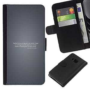 LECELL--Cuero de la tarjeta la carpeta del tirón Smartphone Slots Protección Holder For HTC One M9 -- Perfección motivación --