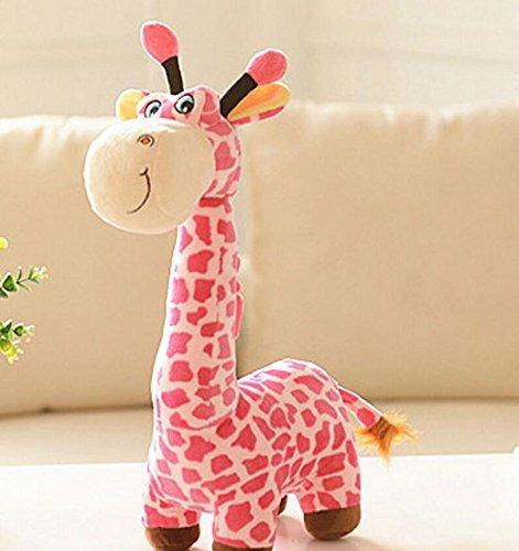 Dalino Soft Stuffed Toys Cuddly 40cm Giraffe Deer Soft Plush Toy Animal Dolls Baby Kids Birthday Party Gift(Pink) by Dalino