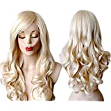 Long Blonde Wig High Quality Wavy Blonde Cosplay Wig Fashion Cosplay Blonde Wigs For Women by Grimm Hair®