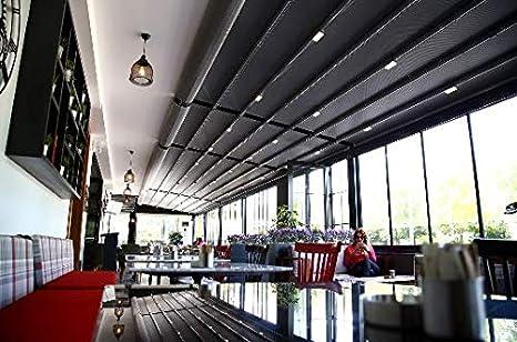 NAO Pergola bajo Consumo de toldo retráctil Impermeable 3 m x 3.5 m: Amazon.es: Jardín