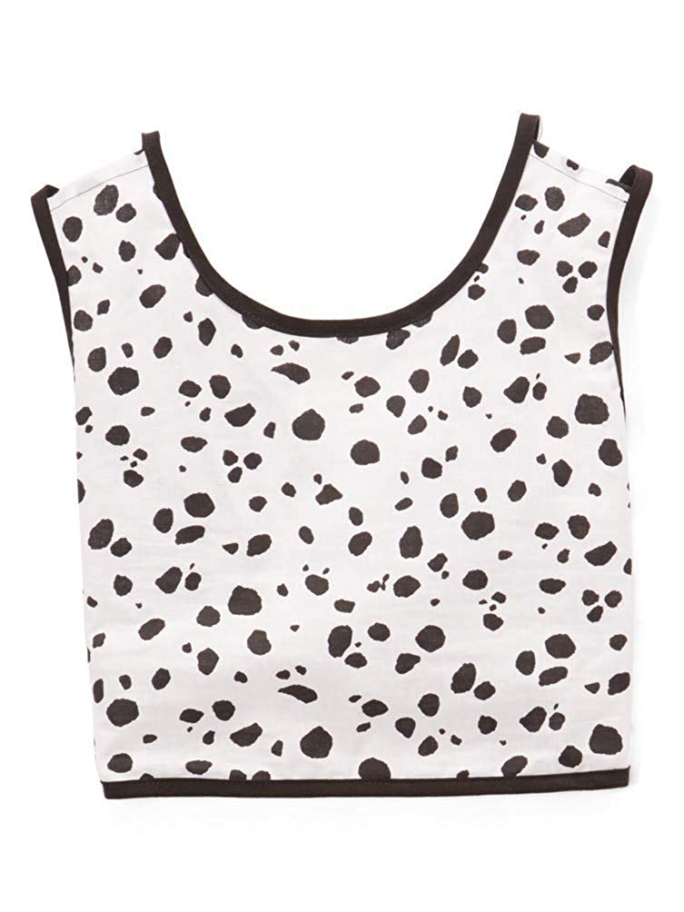 Little Miss Fashion Big Girls Black White Trimmed Top 7-12