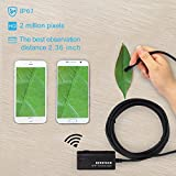 Wireless Endoscope, Depstech WiFi Borescope Inspection Camera 2.0 Megapixels HD Snake Camera for Android and IOS Smartphone, iPhone, Samsung, Tablet - Black(11.5FT)