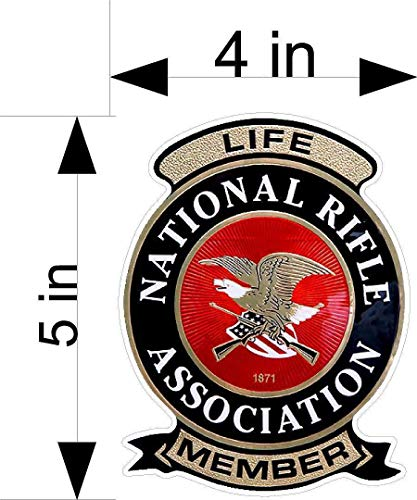 - NRA Life Member Window/Laptop/car/Truck/Vehicle Decals/Stickers