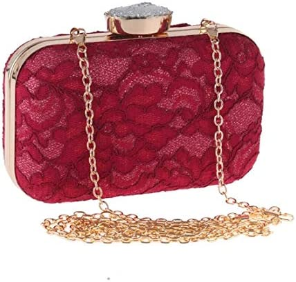 レースクラッチ、財布、イブニングバッグ、ファッションハンドバッグ、ファッションバッグ、(色:赤)明るい形 美しいファッション