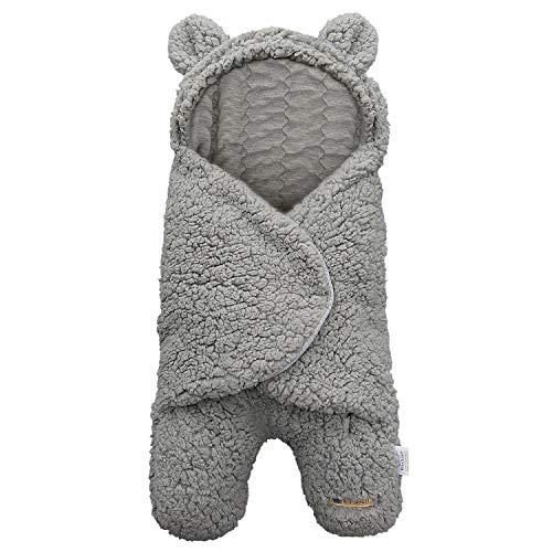 BlueSnail Newborn Receiving Blanket Baby Sleeping Wrap Swaddle (Light Gray)