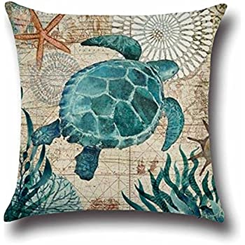 Well-liked Amazon.com: All Smiles Decorative Sea Life Crab Throw Pillow Case  QS44