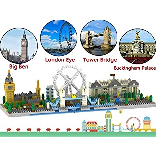 London Skyline Collection Model Architecture Building Block Set 1100pcs Mini Blocks DIY Toys Kit and Present for Kids and Adults