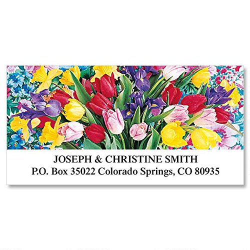 Beautiful Bouquets Self-Adhesive, Flat-Sheet Deluxe Address Labels (8 Designs)