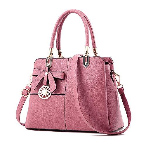 Nuevo Bolso Bolso Color Simple Meaeo Gules Bolso Bolso Pink De Bolso gxBnwEq756