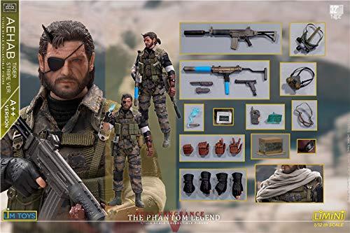 LIMTOYS 1/12 フィギュ 男性 兵士ア ヘッド 素体服セット 武器セットアクションフィギュア アクセサリー A++版 B07PDSDZKN