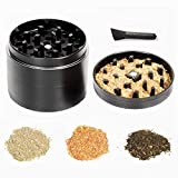 Herb Grinder, Grinder for herb with Pollen Scraper 2.5 inches (63mm) in diameter