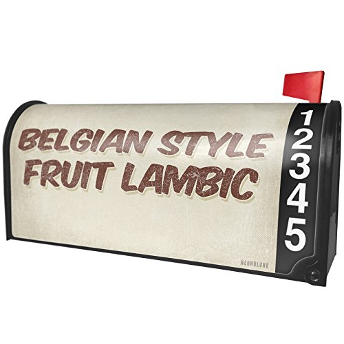 NEONBLOND Belgian Style Fruit Lambic Beer, Vintage Style Magnetic Mailbox Cover Custom Numbers