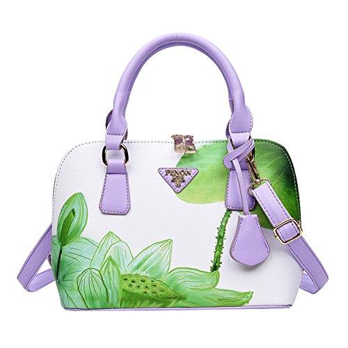Print Floral Green Handbag Lady Shoulder Fashion Faux Leather Tote Cross Bag Jiacheng29 Body 0qpZ1Yx0w