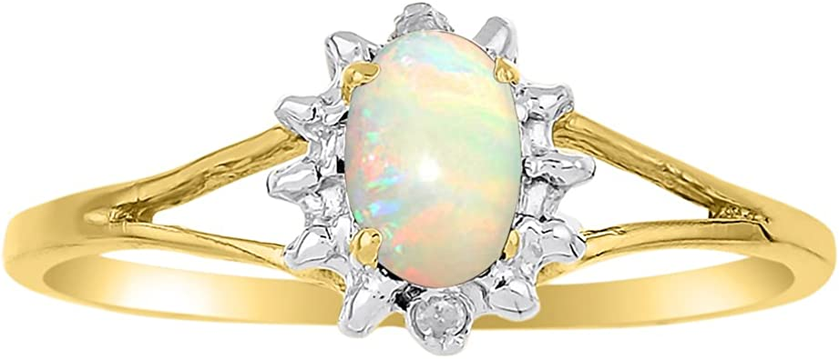 Yellow Opal And Sterling Silver Ring