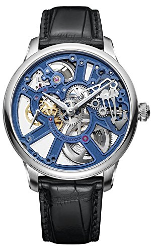 Mens Maurice Lacroix Masterpiece Skeleton Blue MP7228-SS001-004