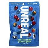 UNREAL Dark Chocolate Peanut Gems | Non-GMO, Vegan, Less Sugar (1) -  Unreal Brands
