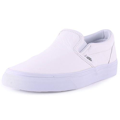Vans Classic Slip On Zapatillas de Piel para hombre blanco