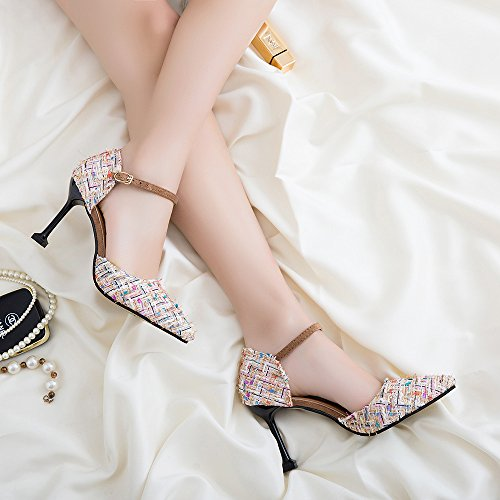 Beige Heel of Shoes et 38 9 cm et Fines High yalanshop polyvalentes Singles Souples et Femme Chaussures Top w4tx5O