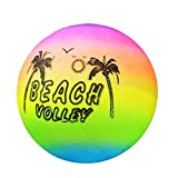 DAVEVY Beach Volleyball Inflatable Ball Pool Swim Rubber Rainbow Garden Game Volleyball Net Kids Toy