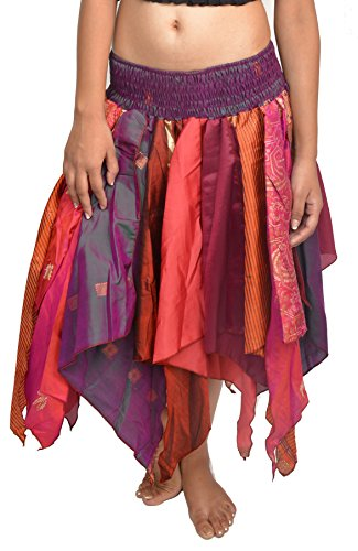 Wevez Women's Tribal Leaves Style Skirt Pack of 3, One Size, Assorted -