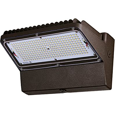 Sunlite LFX/WP/89W/50K LED Wall Packs HPS HID Replacement Wall Mounted Fixture Outdoor, White 5000K Bronze Finish