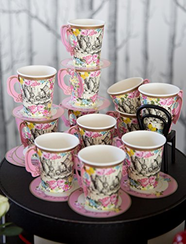 Talking Tables Truly Alice Mad Hatter Cup & Saucer for a Tea Party, Multicolor (12 Pack) by Talking Tables (Image #6)