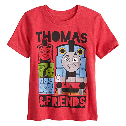Jumping Beans Toddler Boys 2T-5T Thomas & Friends Graphic Tee 3T Red Heather