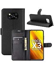 "Capa Capinha Carteira 360 Para Xiaomi Poco X3 com Tela de 6.67"" polegadas - Case Couro Flip Wallet Anti Impacto - Danet (Preta)"