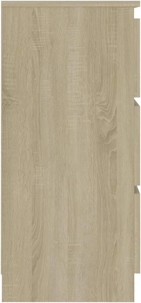 vidaXL Buffet Armoire Lat/érale Commode Dressoir Meuble de Rangement avec 3 Tiroirs Salon Maison Int/érieur Ch/êne Sonoma 60x35x76 cm Agglom/ér/é