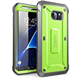 Galaxy S7 Edge Case, SUPCASE Full-body Rugged Holster Case WITHOUT Screen Protector for Samsung Galaxy S7 Edge (2016 Release), Unicorn Beetle PRO Series - Retail Package(Green/Gray)