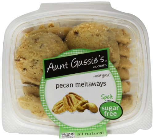 Aunt Gussie's Sugar Free Pecan Meltaways, 7-Ounce Tubs (Pack of 4)