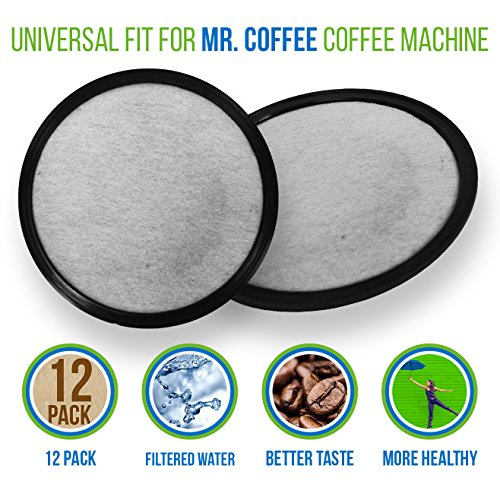 Mr. Coffee Water Filter Replacement Discs | Activated Cha...