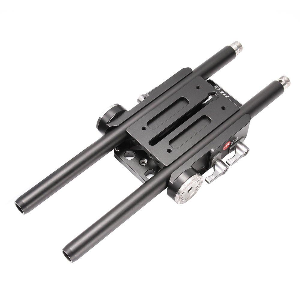 JTZ DP30 Universal Quick Release QR Baseplate 15mm Rod Rig for Follow Focus Matte Box Canon 5D Mark III A7 II GH4/5/5S FS5 FS7 Blackmagic URSA Mini BMPCC 4K,Compatible with VCT-U14,Arri Rosette Mount by JTZ