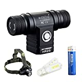 Bundle: JETBeam HR25 CREE XM-L2 T6 LED 800 Lumens Watereproof Rechargeable Headlamp With 18650 Rechargeable Battery and Skyben USB Light