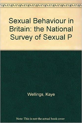 Survey of sexual attitudes and lifestyles