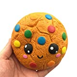 Stress Relief Toy HEHEM Silly Cartoon Chocolates Biscuits Charm Slow Rising Squeeze Stress Reliever Toys Jumbo Squishies Big Squishies Kawaii Squishies Squishy Toys Cheap Squishies (Yellow)