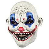 Ghoulish Productions Clown Gang RAF Adult Latex Mask Creepy Killer Halloween Costume Accessory Horror