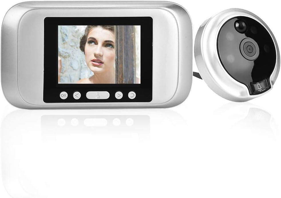 Spioncino elettronico per porta porta visiva occhi di gatto elettronici video spioncino di sorveglianza 3,2 in 720p HD LCD digitale.